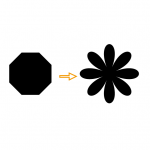 【Illustrator】多角形を使った簡単な花形の作り方